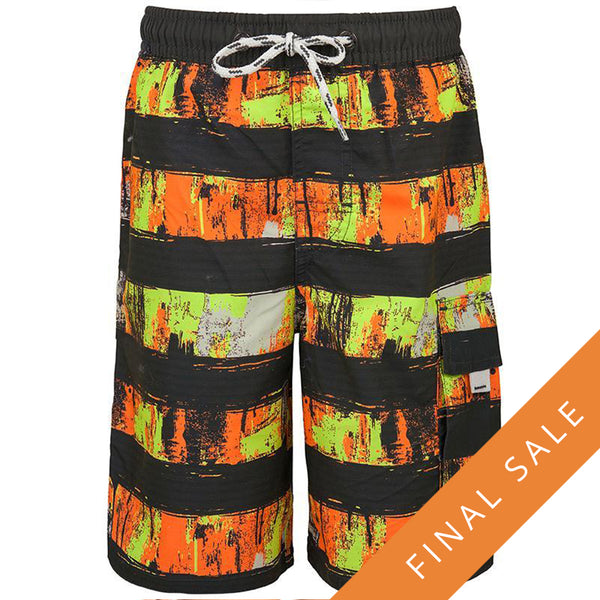 Snapper Rock Boardies 983- Citron Grey Stripe
