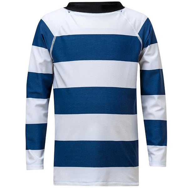Snapper Rock B20063L Denim/White Rugby Stripe Long Sleeve Rash Top