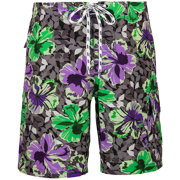 Snapper Rock B986T Boys Boardies-Grunge Hibiscus