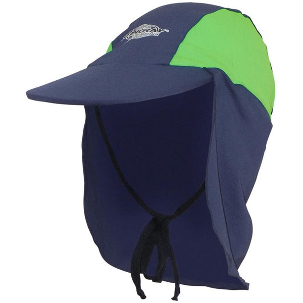 Stingray Legionnaire Cap ST24- Navy/Lime