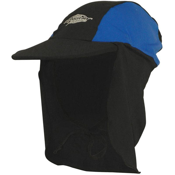 Stingray Legionnaire Cap ST24- Black/Ocean Blue