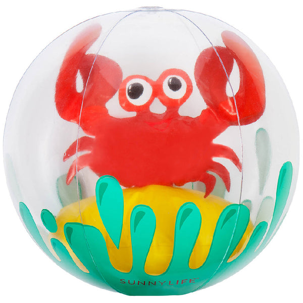 Sunnylife S8MBRMCR 3D Inflatable Beach Ball- Crabby
