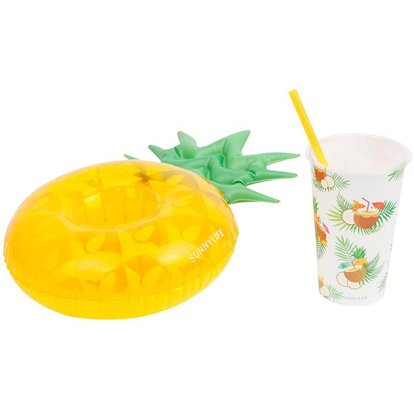 Sunnylife S9LDPLPC Inflatable Drink Holders Party- Pina Colada