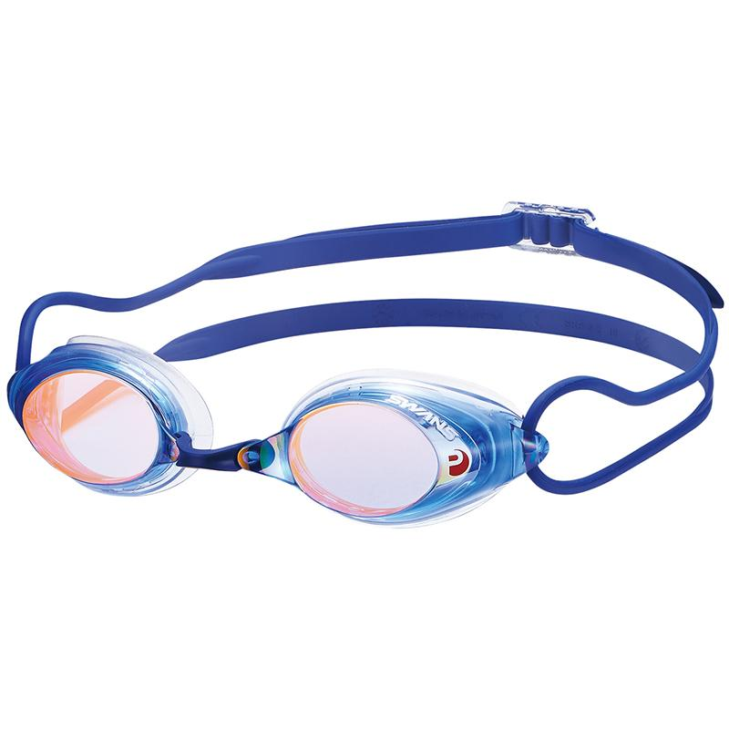 Swans SRX-M PAF Racing Mirror Goggles - Blue/ Orange (BLOR 814)