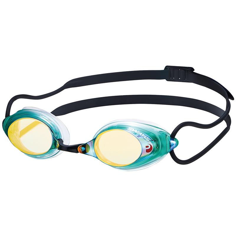 Swans SRX-M PAF Racing Mirror Goggles - Green/ Orange (099)