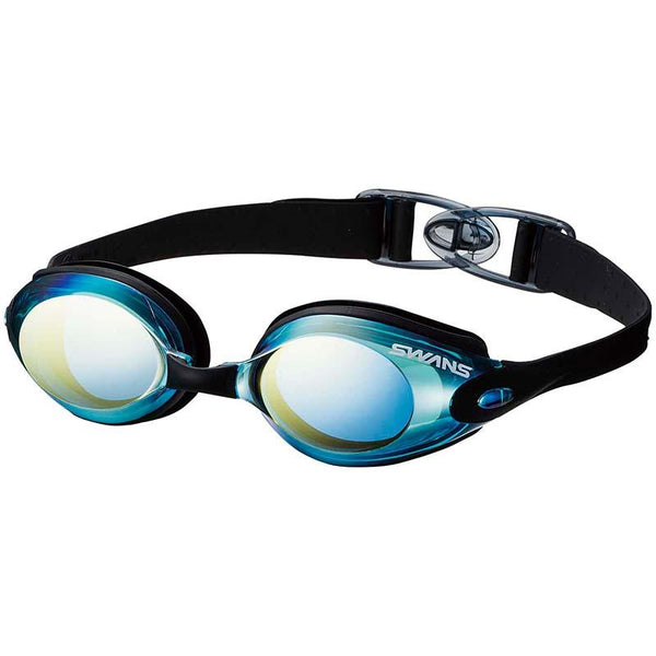 Swans Fitness Mirror Goggles SWB-1M- Sky Blue/Flash Yellow