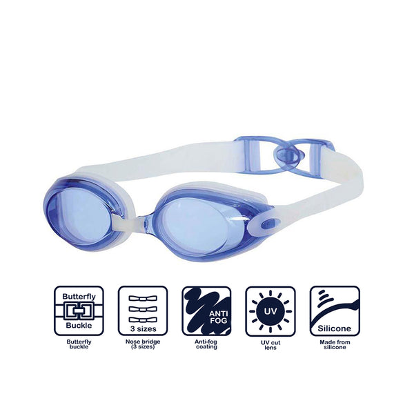 Swans SWB-1 Fitness Goggles-Blue/ Clear (BCLA 138)