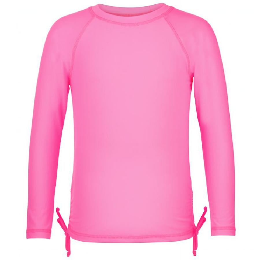 Snapper Rock Girls Rashie Long Sleeves 244- Neon Pink