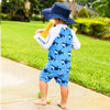 Snapper Rock Orca Ocean LS Sunsuit B70811L- Blue