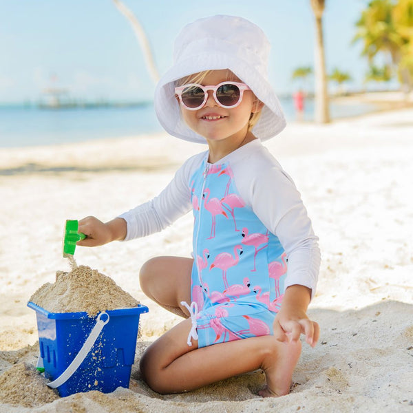Snapper Rock Sunsuit Long Sleeves G70806L- Flamingo Social