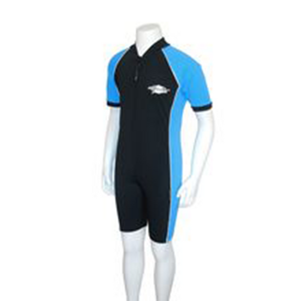 Stingray Youth Raysuit Short Sleeves ST3002- Black/Azure