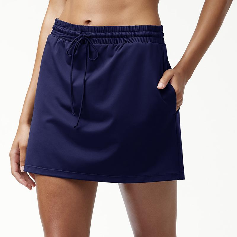 Tommy Bahama Drawstring Skirt TSW80112C- Pearl Solids Mare Navy