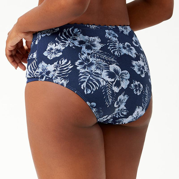 Tommy Bahama Twist Side High Waisted Bottom TSW90408B- Chambray Blossoms