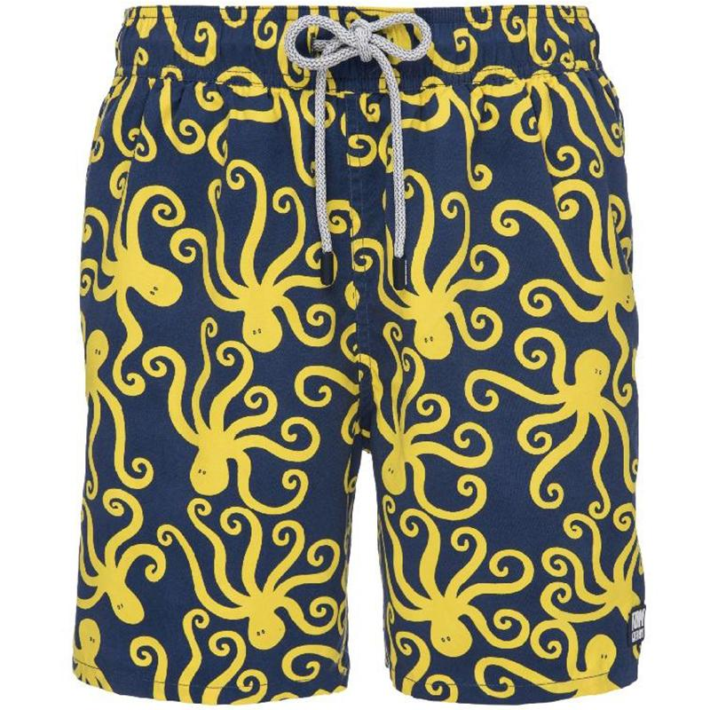 Tom & Teddy OCTBY Octopus Swim Shorts-Blue & Yellow