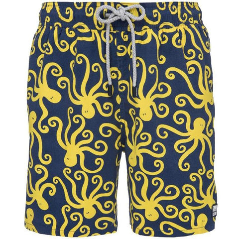 Tom and Teddy OCTBY Octopus Swim Shorts-Blue & Yellow