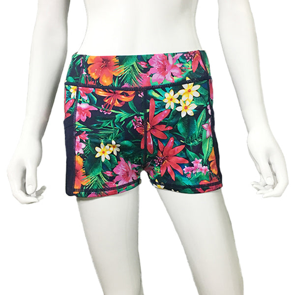 Tommy Bahama TSW21240B Boy Short W/Mesh Pockets Island Active-Jungle Canopy