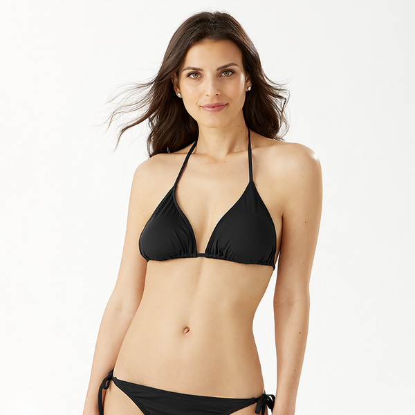 Tommy Bahama Triangle Cup Bra TSW31036T- Pearl Solids Black