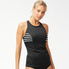 Tommy Bahama TSW81021T High Neck Tankini- IslandActive(R) Solid & Stripes