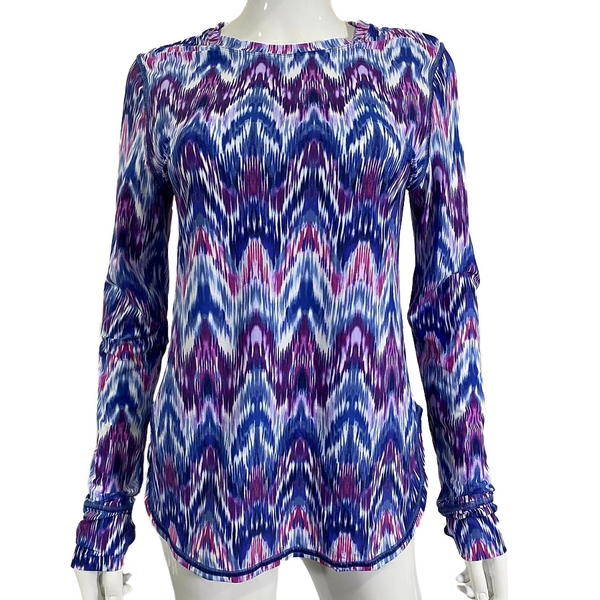 Tommy Bahama Long Sleeve Relaxed Tee TSW12810C- Ikat Mirage