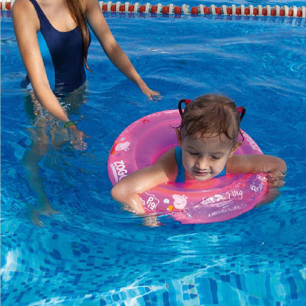 Zoggs Junior Swim Ring Peppa Pig Pink <15kg Z382146