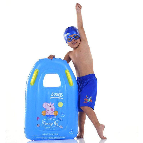 Zoggs Junior Inflatable Surf Rider Peppa Pig <30kg Z382200- Blue