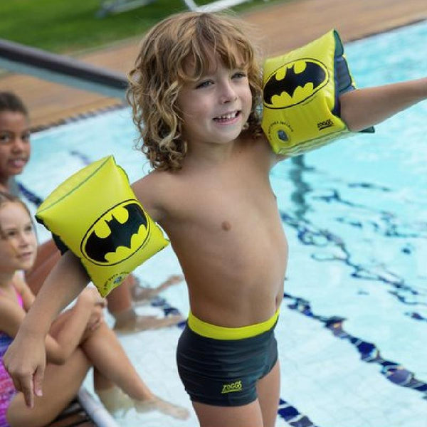 Zoggs Arm Band DC Super Heroes Batman <25kg Z382400- Black/Yellow