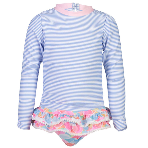 Snapper Rock Ruffle Set Long Sleeves G52006L- Rainbow Connection