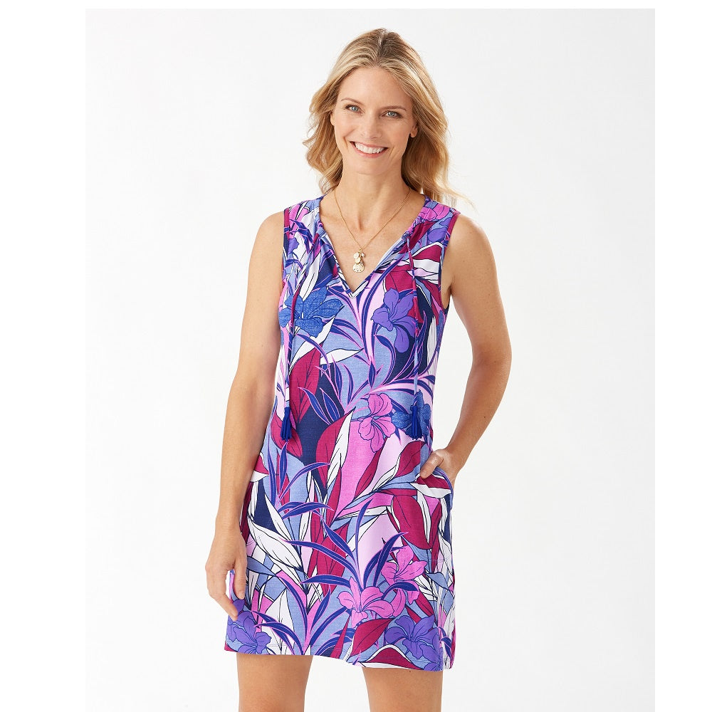 Tommy Bahama Split Neck Spa Dress TSW12815C- Oasis Blossoms