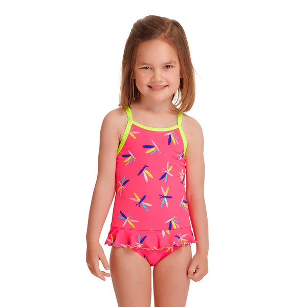 Funkita Girls Toddler Belted Frill 1 Piece FKS039G- Fly Dragon
