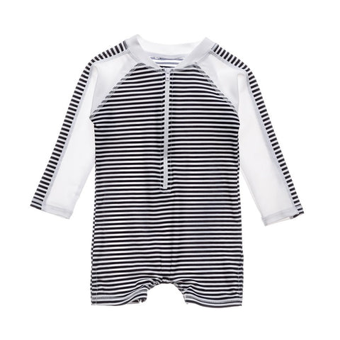 Snapper Rock Nautical Stripe LS Sunsuit G70813L- Blue