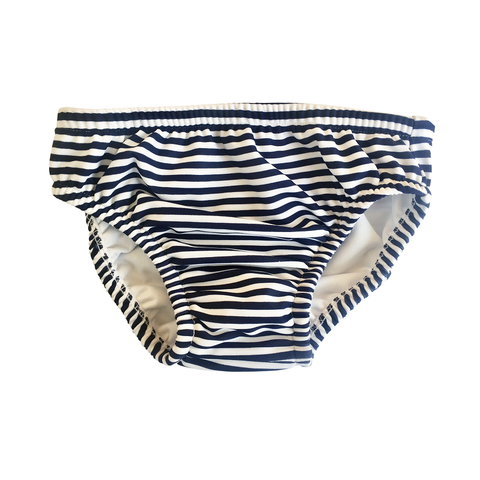 Snapper Rock Navy/White Stripe Swim Diaper B50004- Blue