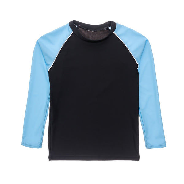 Snapper Rock Slate Lt Blue Sleeve LS Rash Top B20073L- Blue