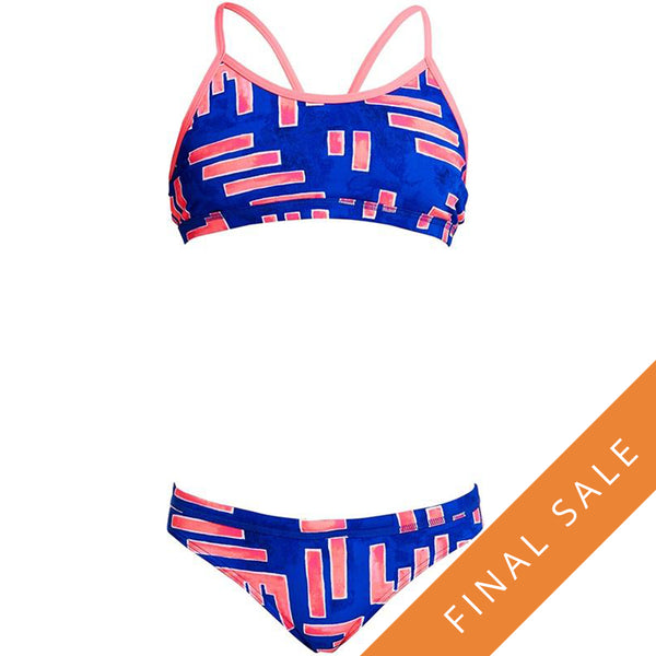 Funkita Girls Racerback Two Piece FS02G- Hot Rod