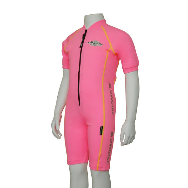 Stingray Raysuit Short Sleeves ST3001S- Pink/Yellow