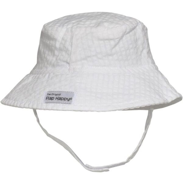 Flap Happy CHT Upf 50+ Bucket Hat- Vanilla Stripe Seersucker