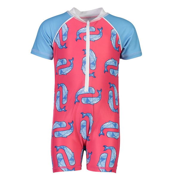 Snapper Rock Sunsuit Short Sleeves B70808S- Geo Whale