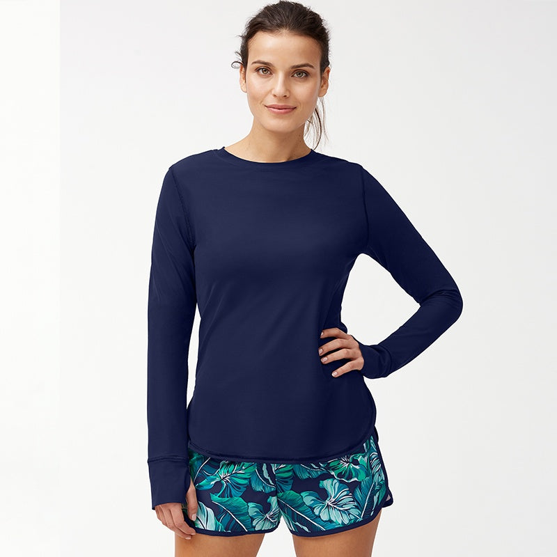 Tommy Bahama TSW90711C Long-Sleeve Relaxed Tee- Island Active(R) Breezy Palms