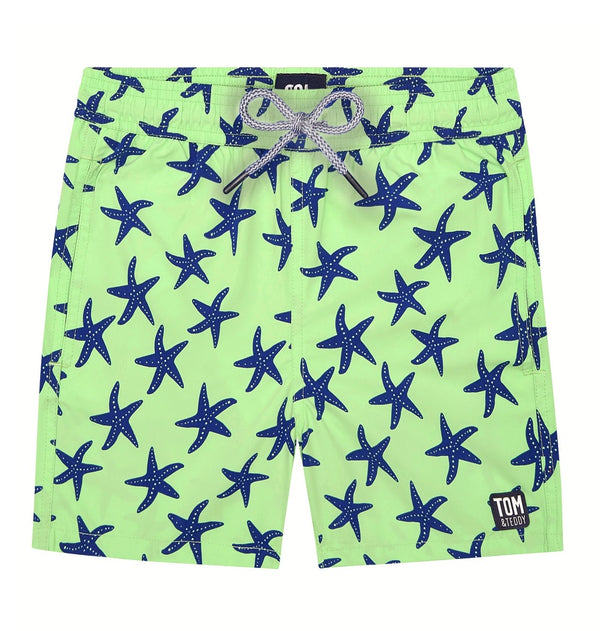 Tom & Teddy Starfish Boys Swim Shorts STFGB-J- Fresh Green & Blue
