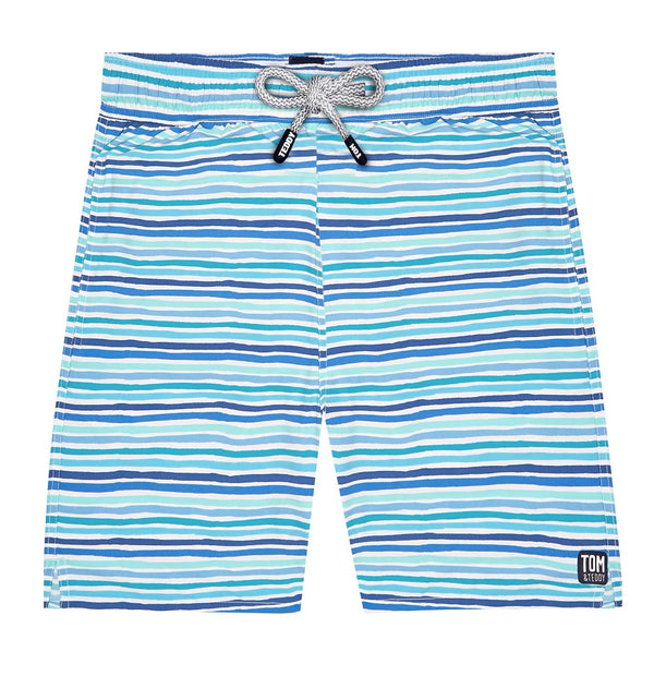 Tom & Teddy Stripe Men Swim Shorts STROC- Ocean