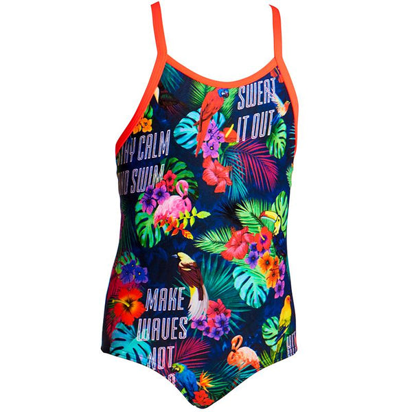 Funkita FG01T Toddler Girl's One Piece D-P-Tropic Tag