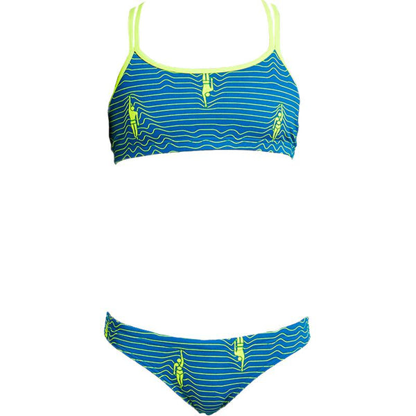 Funkita FS33G Girl's Criss Cross Sports Two Pieces-Ripple Effect