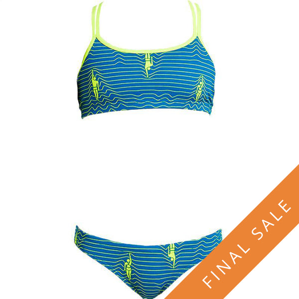 Funkita Girls Criss Cross Two Piece FS33G- Ripple Effect