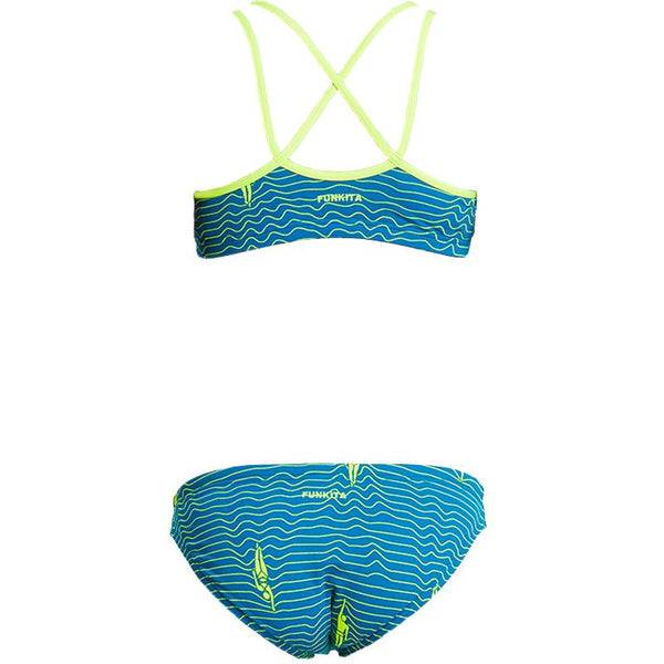 Funkita FS33G Girls Criss Cross Sports Two Pieces-Ripple Effect