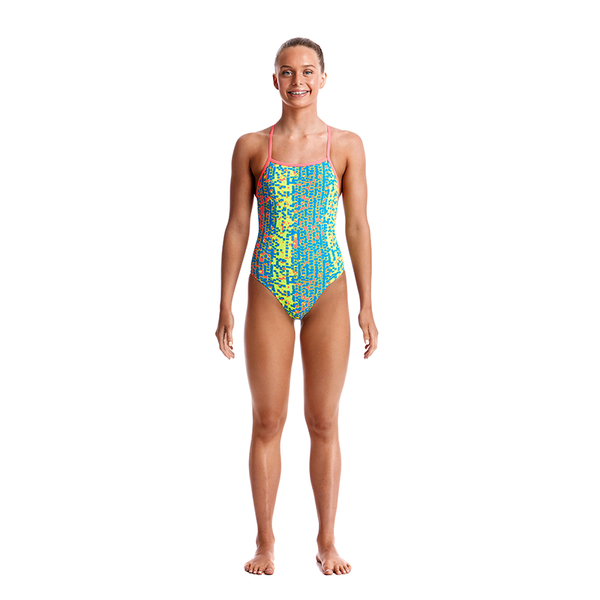 Funkita Girls Strapped In One Piece FS38G- Second Skin