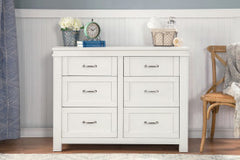Wesley Farmhouse 6-Drawer Dresser