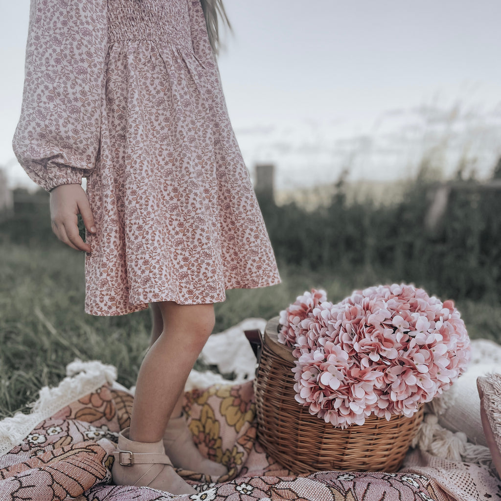 Winter romper - Dusty pink