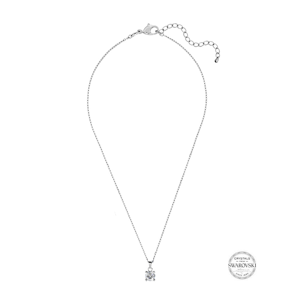 2c5005cf465 Samie Collection Swarovski® Crystal Solitaire Pendant Necklace in Rhodium  Plating, 16-18