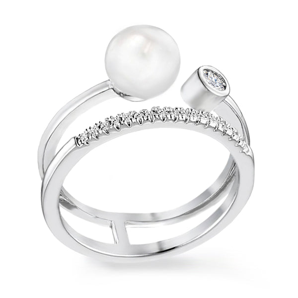 Samie Collection Stackable In One Right Hand Ring With Simulated