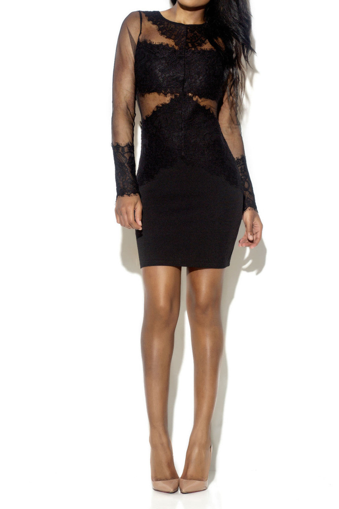 AMY SHEER LACE DRESS