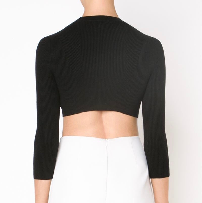 ROMA RIBBED CROP TOP